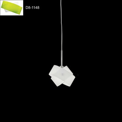 Tourbillon 1-Light Mini Pendant Shade Color: White/Green