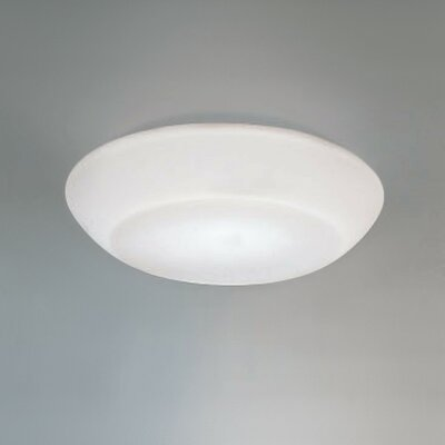 Delphinia 1-Light Flush Mount Size: 17 Dia., Bulb Type: 1 x 150W Halogen T3Q/3 bulb