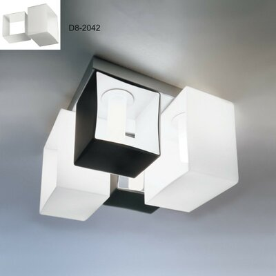 Domino 4-Light Flush Mount