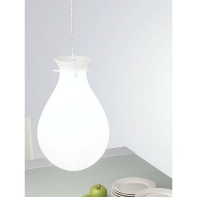 Ona Pendant With White Acrylic Glass Size: 10.5 D x 59 H / 1 x 24W CFL