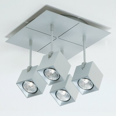 Dau Spot 4-Light Square Flush Mount