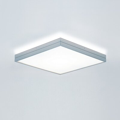 Linea 1-Light Flush Mount Size: Medium, Bulb Type: Halogen T3Q (119mm)/1 x 100W, Finish: Brushed Aluminum
