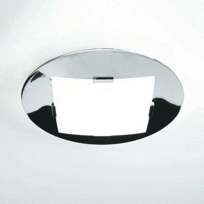 Damas 2-Light Flush Mount Size: 3.33 H x 20.5 W