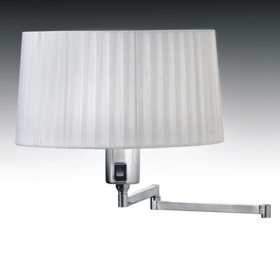Elea 6 Drum Lamp Shade Color: White Pleated