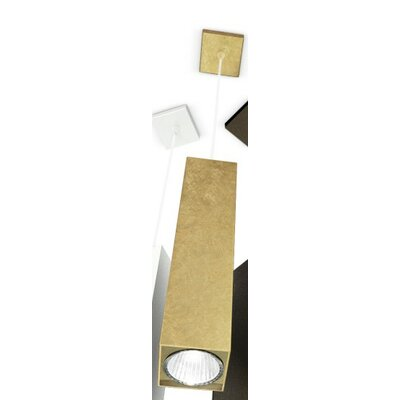 Two 1-Light Mini Pendant Finish: Gold Leaf