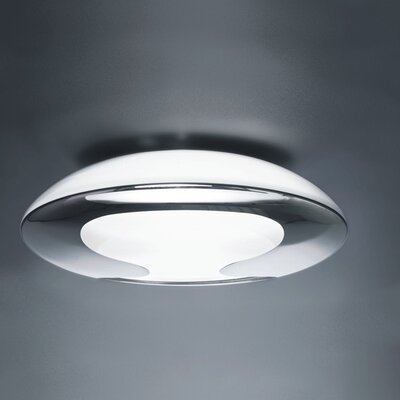 Eight 2-Light Flush Mount Size / Finish: 4.25 H x 13.75 W x 13.75 D / Chrome