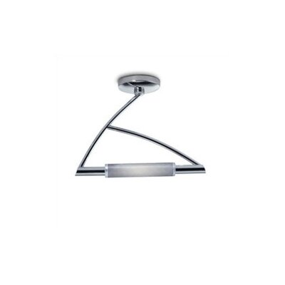 Wing 1-Light Semi Flush Mount Finish: Chrome