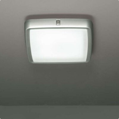 Sq-Easy 2-Light Flush Mount Finish: Gray, Bulb Type: Fluorescent
