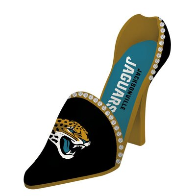 NFL Decorative Team Shoe 1 Bottle Tabletop Wine Rack NFL Team: Jacksonville Jaguars