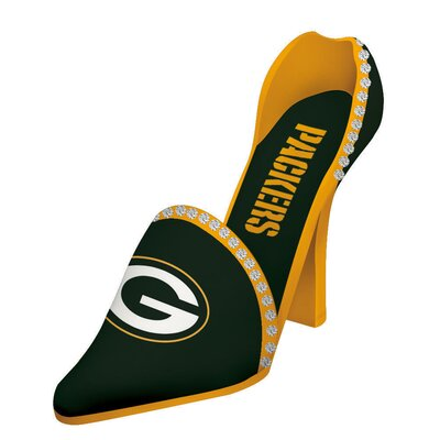 NFL Decorative Team Shoe 1 Bottle Tabletop Wine Rack NFL Team: Green Bay Packers