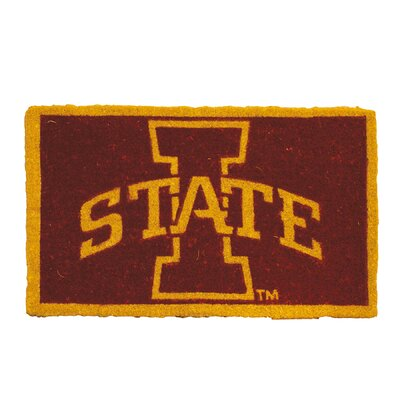 NCAA Iowa State Welcome Graphic Printed Doormat