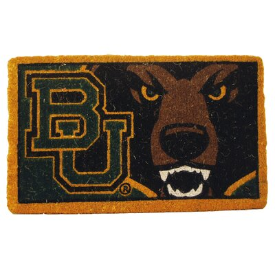 NCAA Baylor Welcome Graphic Printed Doormat