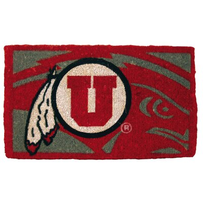 NCAA Utah Welcome Graphic Printed Doormat