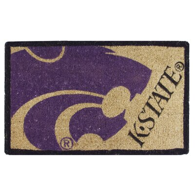 NCAA Kansas State Welcome Graphic Printed Doormat