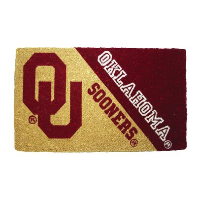 NCAA Oklahoma Welcome Graphic Printed Doormat