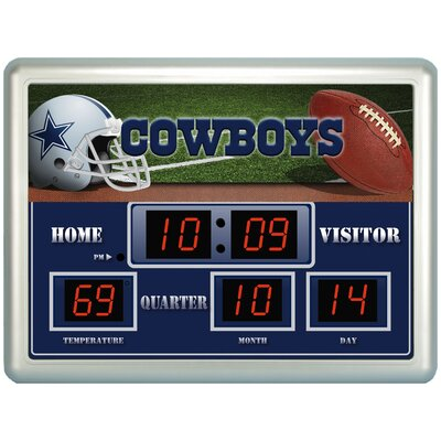 NFL Scoreboard Wall Clock NFL Team: New England Patriots 1238923C