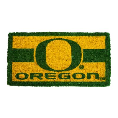 NCAA Oregon Welcome Graphic Printed Doormat