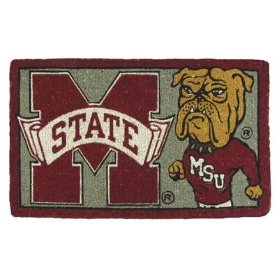 NCAA Mississippi State Welcome Graphic Printed Doormat