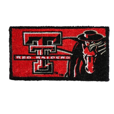 NCAA Texas Tech Welcome Graphic Printed Doormat