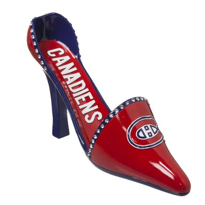 NHL Decorative Team Shoe 1 Bottle Tabletop Wine Rack NHL Team: Montreal Canadiens