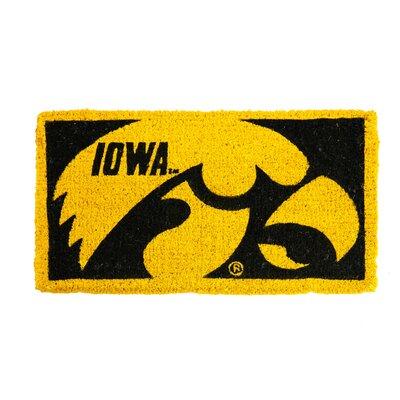NCAA Iowa Welcome Graphic Printed Doormat