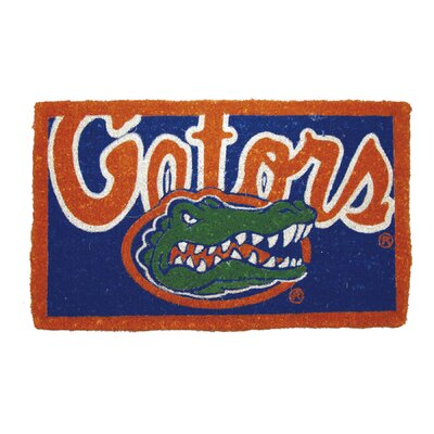 NCAA Florida Gators Welcome Graphic Printed Doormat