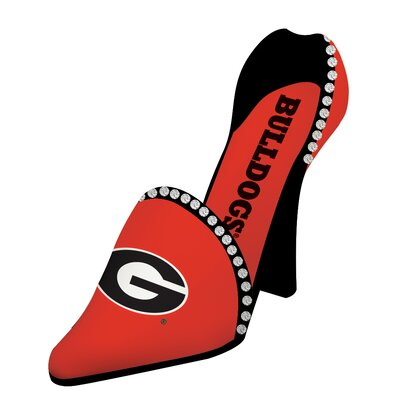 NCAA Shoe 1 Bottle Tabletop Wine Rack NCAA Team: Georgia