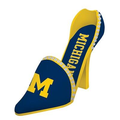 NCAA Shoe 1 Bottle Tabletop Wine Rack NCAA Team: Michigan