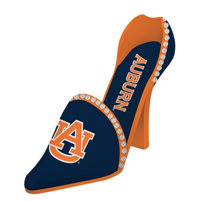 NCAA Shoe 1 Bottle Tabletop Wine Rack NCAA Team: Auburn