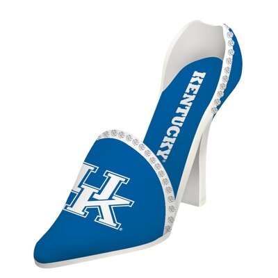NCAA Shoe 1 Bottle Tabletop Wine Rack NCAA Team: Kentucky