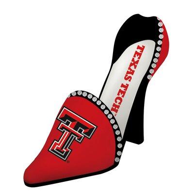 NCAA Shoe 1 Bottle Tabletop Wine Rack NCAA Team: Texas Tech