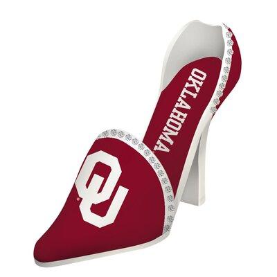 NCAA Shoe 1 Bottle Tabletop Wine Rack NCAA Team: Oklahoma