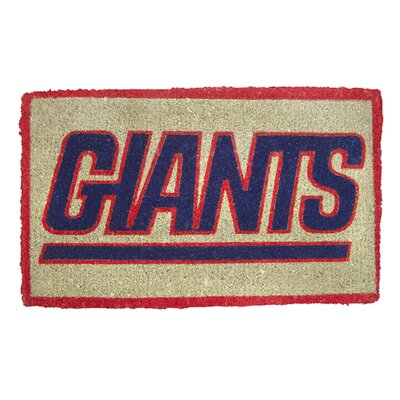 NFL New York Giants Welcome Graphic Printed Doormat