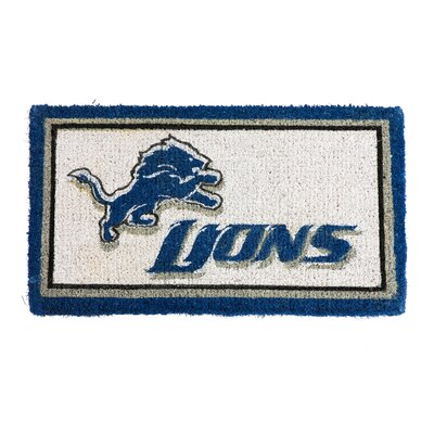 NFL Detroit Lions Welcome Graphic Printed Doormat
