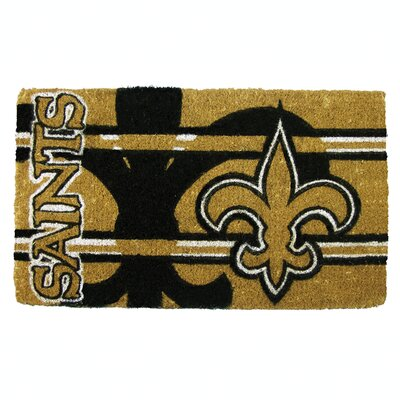 NFL New Orleans Saints Welcome Graphic Printed Doormat