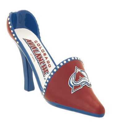 NHL Decorative Team Shoe 1 Bottle Tabletop Wine Rack NHL Team: Colorado Avalanche