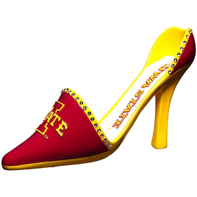 NCAA Shoe 1 Bottle Tabletop Wine Rack NCAA Team: Iowa State
