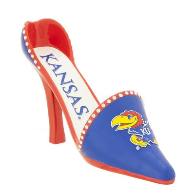 NCAA Shoe 1 Bottle Tabletop Wine Rack NCAA Team: Kansas