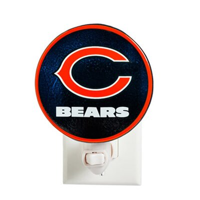 NFL Glass Night Light NFL Team: Chicago Bears