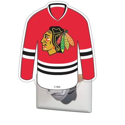 NHL Glass Night Light NHL Team: Chicago Blackhawks