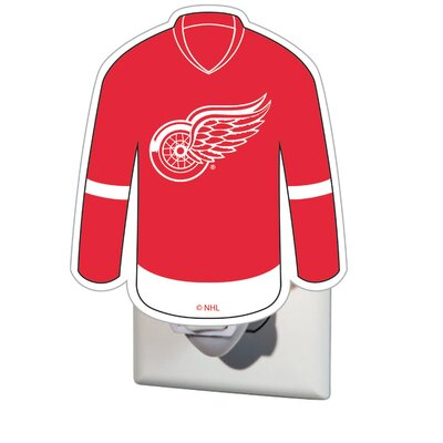 NHL Glass Night Light NHL Team: Detroit Red Wings