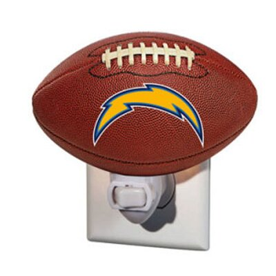 NFL Glass Night Light NFL Team: Los Angeles Chargers