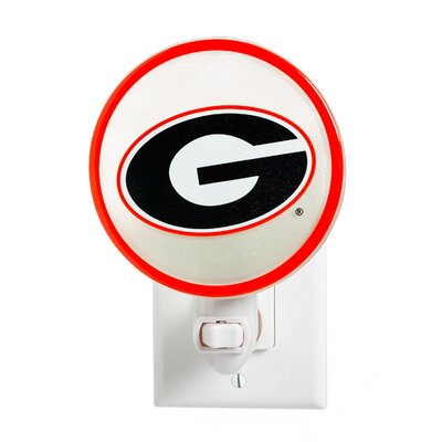 NCAA Glass Night Light NCAA Team: University of Georgia