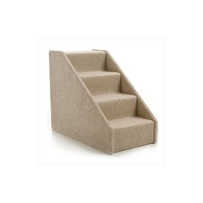 Large Solid Side 4 Step Pet Stair Color: Tan