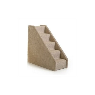 Small Solid Side 5 Step Pet Stair Color: Tan