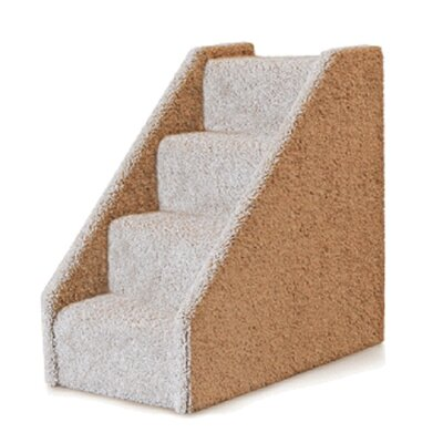 Large Solid Side 4 Step Pet Stair Color: Dark Blue