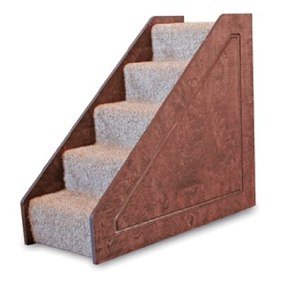 Small Solid Side 5 Step Pet Stair Color: Black