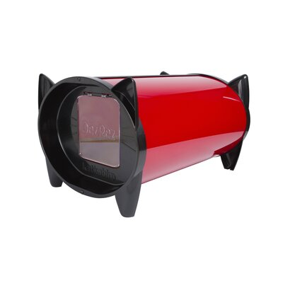 Outdoor Cat House Doors: Single Door, Color: Starlet Red