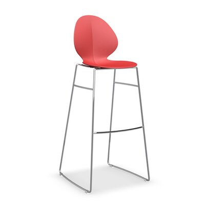 Basil Bar Stool Upholstery: Red