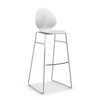 Basil Bar Stool Upholstery: Matt Optic White